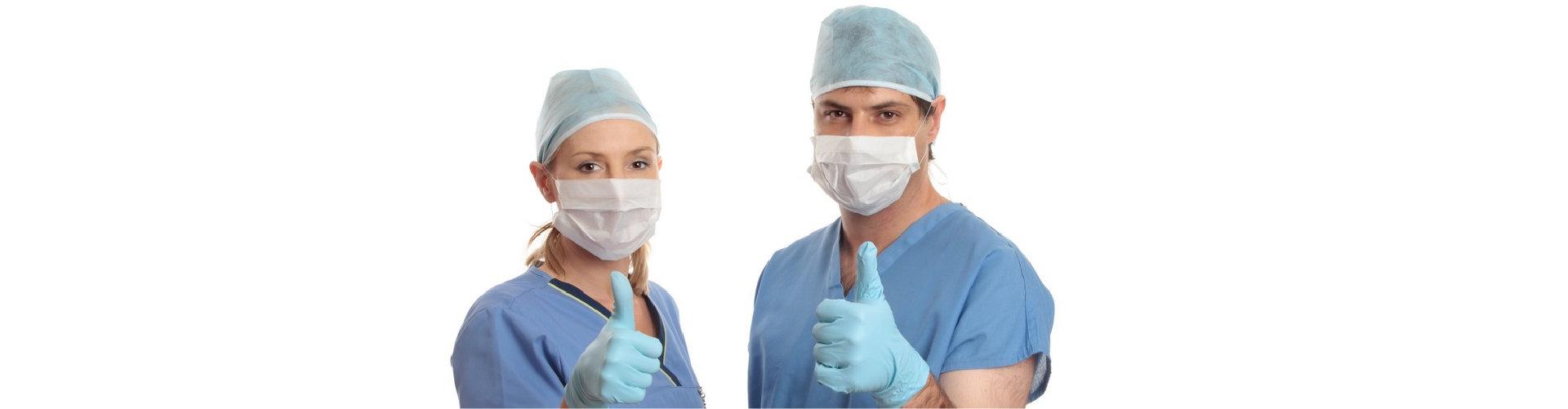 healtcare workers wearing mask